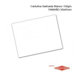 CARTULINA SATINADA BLANCO 150GRS DE 50CM X 65CM GRAPHOS
