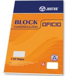 BLOCK CUADRICULADO OFICIO - 56GRS - 50 HOJAS JUSTUS