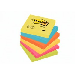 "NOTA ADHESIVA COLORES 3"" X 3"" POST-IT 654-5PK"