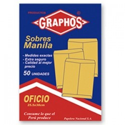SOBRE MANILA OFICIO DE 50 UNIDADES GRAPHOS
