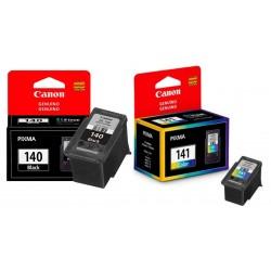 Tinta Canon - Canon Tintas para impresoras 140 BN - 141 Color