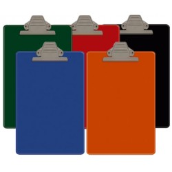 FOLDER OFICIO DE PLASTICO SUJETADOR SUPERIOR COLORES ARTESCO